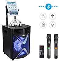 VeGue Wireless PA Speaker System with 10'' Subwoofer for Home Party, Meeting, Wedding,Church