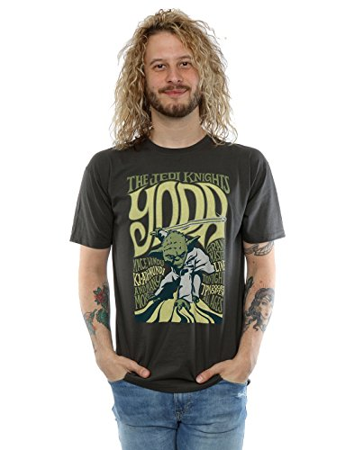 STAR WARS Homme Yoda Rock Poster T-Shirt Small Graphite Lumière