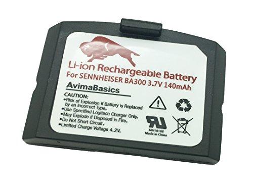 Premium Lithium Polymer Rechargeable Battery Compatible with Sennheiser BA300 Set 900, Set 840, Ri 900 (140mAh, 3.7V)