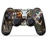 DeinDesign Skin kompatibel mit Sony Playstation 4 PS4 Slim Controller Folie Sticker Kuh Kalb Landwirtschaft