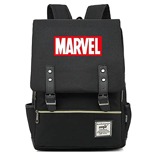 Marvels Revenge League Rucksack Captain America Marvel Bestickte Neue Rucksack Jugend Schultasche-Schwarzes Marvel rot_38 * 28 * 13