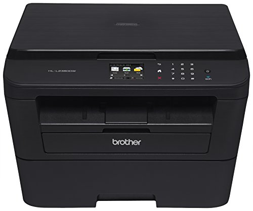 Brother Printer EHLL2380DW Wireless Monochrome Printer with Scanner & Copier (Certified Refurbished)