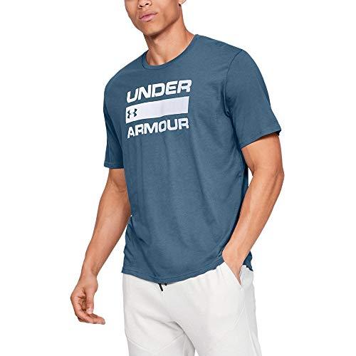 Under Armour Ua Team Issue Wordmark Short Sleeve - T-Shirt - UA TEAM ISSUE WORDMARK Short Sleeve - Homme, Bleu (Electric Blue(407), L