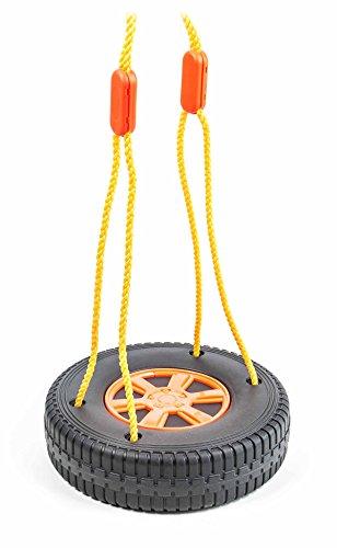 Kinderschaukel, Reifenschaukel für 1 oder 2 Kinder, giftfrei, Belastung max. 20/40 kg, Größe ca. 38/57 cm (Kleine Schaukel)