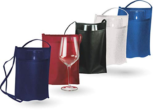 Tasca Portabicchiere in TNT. Bicchiere non incluso. Bianco - Blu Navy - Blu Royal - Nero - Bordeaux (50pz) (Bordeaux)