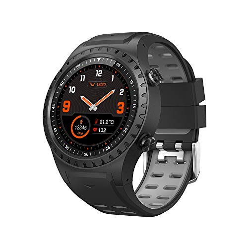 SMA-M1 Built-in GPS Sport Smart Watch Activity Tracker Fitness Watch for Men Heart Rate Monitor Smartwatch for Android Phones Gift for Father for Friends (Black)