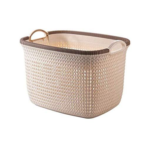 Lowest Price! LHQ-HQ Plastic Storage Basket, Portable Clothing Storage Basket Bathroom Hamper Snack ...