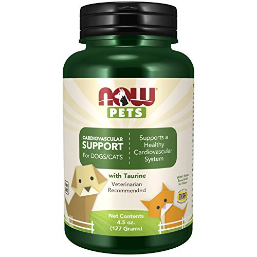 NOW Foods Pet Health, Cardiovascular Support Supplement, Formulated for Cats & Dogs, NASC Certified, Powder, 4.5-Ounce (4306)