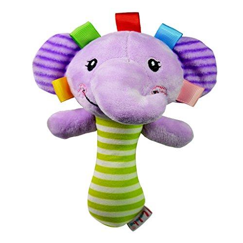 Gazechimp Hochet Main Bande Dessinée Handbell D'éléphant en Peluche Jouets Bébé Enfants