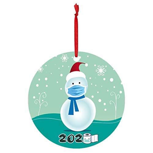 Xniral 2020 Julgran trä julgran DIY hänge dag personlig familj ornaments (M)