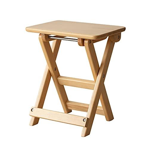 Hwjmy Taburete de almacenamiento para caballos pequeños, conveniente, banco, hogar, madera maciza, espacio, silla de cocina, silla de comedor (color de madera)