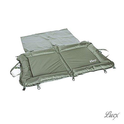 Lucx® Abhakmatte XL Unhooking Matt Carp Bag Karpfen Matte inklusive Knieschutz
