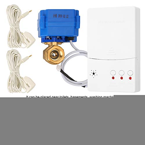 Garsent Huiswaterlekdetector auto alarmsysteem, Smart DN25 waterlekdetector alarm auto afsluitventiel Home Security System, EU.