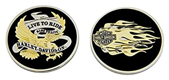 Harley-Davidson Live To Ride Eagle & Flames Challenge Coin 1.75 in Coin 8007126