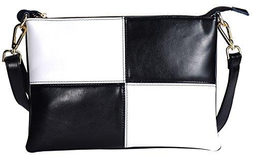Damen Clutch Handtasche Abendtasche mit Schulterriehmen Weiß