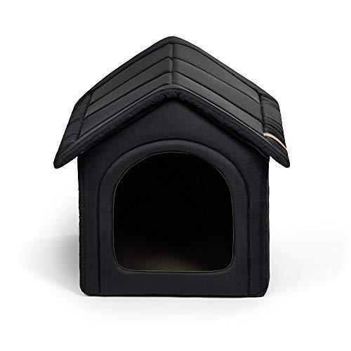 R Rexproduct Home Premium Hundehütte Hundehaus Tierhaus Flattbar Wasserfest Kratzfest Schwarz XXL (55x60x60 cm)