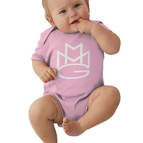 Johnson hop Meek-Mill Baby-Strampler für Neugeborene, Mädchen, Jungen, kurze Ärmel, rose, (0-3M)UK