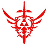 UR Impressions Red Triforce Master Sword and Shield Decal Vinyl Sticker Graphics Car Truck SUV Van Wall Window Laptop|RED|5.5 Inch|URI106-R