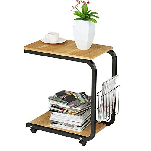 AI LI WEI levend kantoor/eenvoudige tafel laptopstandaard voor op het bureau eenvoudige en veelzijdig kleine salontafel eettafel mobiele plank houten platen, 4 kleuren (kleur: C, maat: 51X30X56cm)
