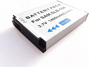 High Capacity Rechargeable Battery for Samsung ES55  ES60  ES63  HZ10W  HZ15W  IT100  L100  L110  L200  L210  L310W  L313W Digital Cameras Replacement for Samsung SLB-10A Battery Long Life 1400 mAh battery Year Warranty AAA Products