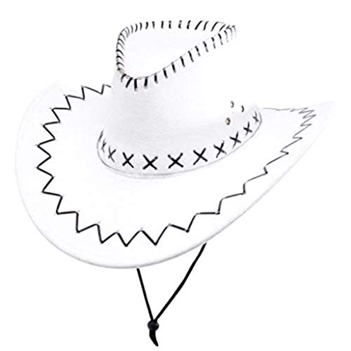 Cowboyhoed - man - texaans - sheriff - carnaval - witte kleur - origineel idee voor een verjaardagscadeau voor kerstmis