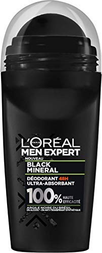 L 'Oréal Paris Men Expert Black Mineral Desodorante Bille 48h Ultra absorbente hombre 50 ml