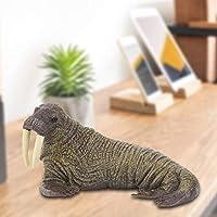 家の装飾セイウチの置物、動物モデルのおもちゃ、ゲーム教育目的のための手描きの子供のおもちゃ