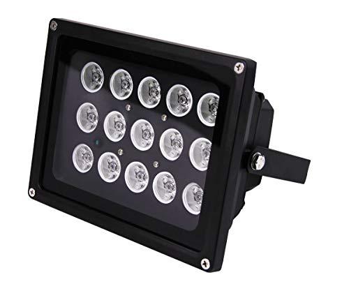 INSTAR IN-907 mit unsichtbaren 940nm Infrarot LEDs - sehr starker Scheinwerfer Spotlight Flutlicht (940nm unsichtbare LEDs, 60 Grad) in schwarz