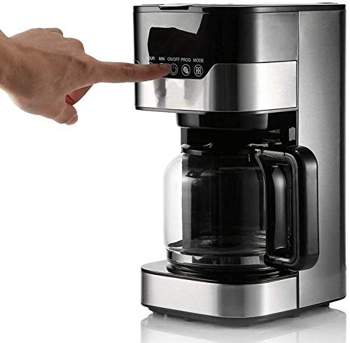 JSL Smart Programmable Drip Coffee Machine 220V 900W Automatic Thermal Insulation Spray Coffee Machine with Glass Pot 1.5L Capacity LCD Clock Timer