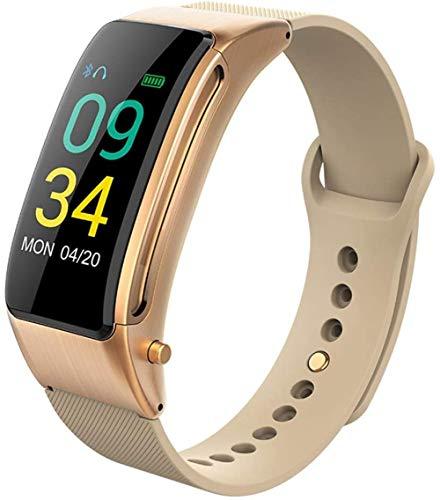 Reloj inteligente inalámbrico 2 en 1 pulsera de actividad impermeable