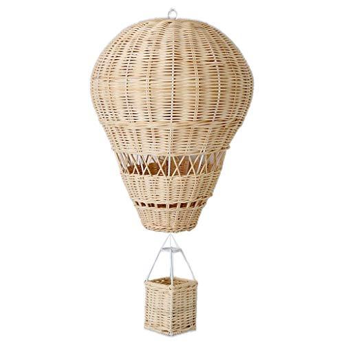 Boji, mongolfiera da appendere in rattan fatto a mano, mongolfiera in tessuto, decorazione per la cameretta dei bambini