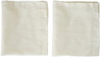 AUXIN™,Nut Milk Bags【2 PCS】,100% Cotton Cheesecloth Bags,Yogurt/Coffee/Tea Strainer,Reusable Almond Milk,Oat...