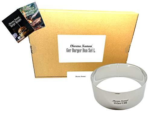 Charma Kaman 6 Stück Ø 10cm Premium Burger Ringe/Dessertringe/Speiseringe (6 L, Metall)