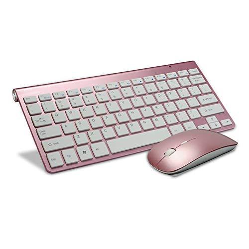 Ys-s Personalización de la Tienda Ultra Pack Keyboard Wireless Keyboard y Mouse Combo Set 2.4G Radiocomunication Teckeboard Mouees Combo para para para para Apple Mac Windows XP / 7/10 iOS