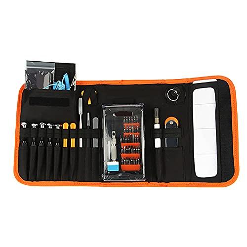 Mini juego de herramientas de destornillador manual de 54 piezas, kit de herramientas de reparación de modelos, que incluye un juego de destornilladores de precisión con bolsa de herramientas de alm