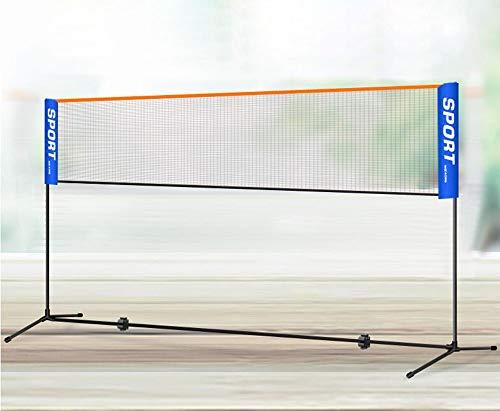 CHUANGXIE Badmintonnetz, Tennisnetz, höhenverstellbar, stabilem Eisen-Gestell und Transporttasche,erhältlich in 4m oder 5 m,5M