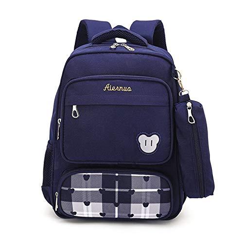 Tasche Hochschule | Hohe Qualität Nylon-Kind-Schule Taschen Rucksäcke Brand Design für Kinder Bester Studenten Reisetaschen Cartoon Wasserdicht Schulranzen Geschenke, dunkelblau