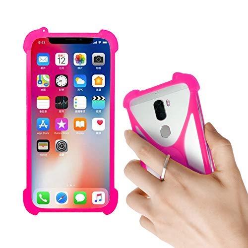 Lankashi Rose Silikon Schutz Tasche Hülle Hülle Ring Halter Ständ Cover Etui Handyhülle Handytasche Für NUU G3 G2 G1 X5 X4 X1 Nextbit Robin CTC Smartphone 3G Meiigoo Note 8 Mate 10 S8 S9 Universal