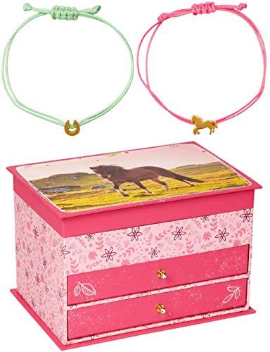 Coppenrath Spiegelburg Pferdefreunde 3er Set 16269 16321 16321 Mini-Kommode + Trend-Armband rosa + Trend-Armband mintgrün