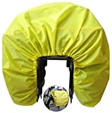 Cubierta de lluvia plegable para alforjas de bicicleta, impermeable para bicicleta y bolsa de transporte para asiento trasero de bicicleta, cubierta de lluvia doble para unisex (amarillo)