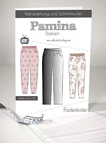 Schnittmuster Fadenkäfer Pamina - Damenhose Gr.32-58 Papierschnittmuster
