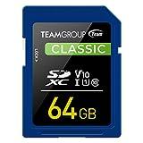 Team SDXCカード 64GB UHS-I U1 V10 読込最大80MB/s 日本国内10年保証 正規品