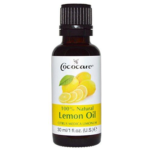 100% Natural Oil Lemon, Citrus Medica Limonum, 1 fl oz (30 ml) - Cococare