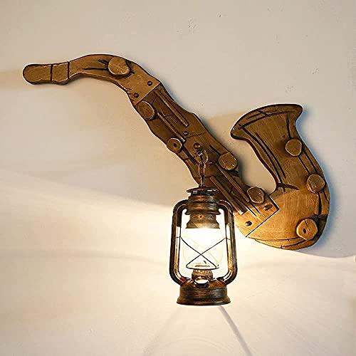 IBalody Creatividad Metal Lámpara De Caballo Antigua Loft Industrial Luz De Pared Retro Edison Farmhouse Linterna Colgante De Pared E27 Casa De Familia Inn
