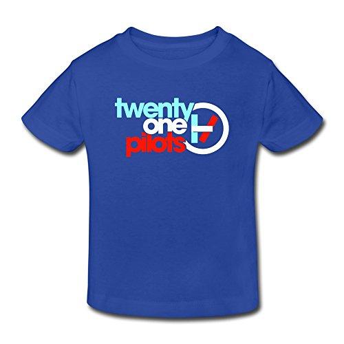 ToWi Little Kids infantil Twenty One Pilotos Logo Camiseta de Algodón 100%