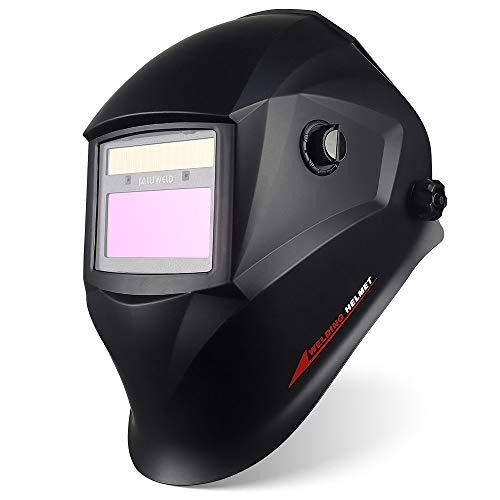 Careta Soldar Automatica,Energía Solar Mascara de Soldar Gran Vista Careta Soldadura Automatico Oscurecimiento ARC TIG MIG/mag Grinding Completo con 5 Lentes