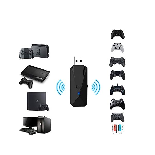 Joytorn Wireless Controller Adapter Converter-Allows for Use of PS4/Xbox/PS3 Controllers...