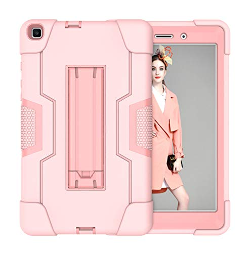 Neecio Case for Samsung Galaxy Tab A 2019 8,0' (SM-T290/SM-T295), Heavy Duty Three Layers Shockproof Full Body Protective Stand Case Cover for Galaxy Tab A 2019 8,0 Tablet (Rose Gold)