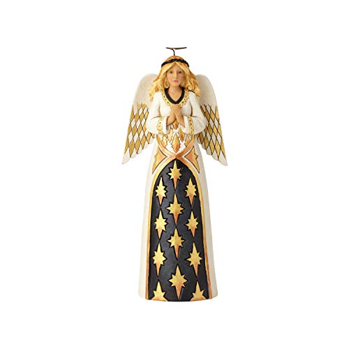 Enesco Jim Shore Heartwood Creek Black and Gold Praying Angel Figurine, 10.28, Multicolor
