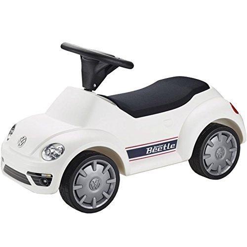 Volkswagen 5DA087510 Spielauto für Kinder, zum Daraufsitzen, Junior Beetle, weiß